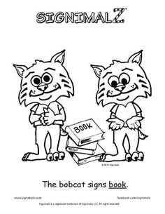 Signimalz American Sign Language School Words Coloring Book is a unique resource that depicts adorable cartoon animals teaching the simple signs for words commonly used at school. This book can be used as a teaching resource for Deaf and Hard of Hearing students or as a learning tool for any student wishing to learn early literacy and sign language.