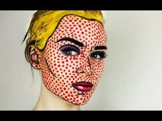 Roy Lichtenstein Pop Art Costume | Pop Art / Comic Book Makeup Tutorial