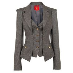 VIVIENNE WESTWOOD METAL TWEED TWO WAY JACKET