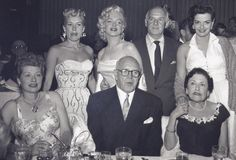 Betty Grable, Marilyn Monroe, Walter Winchell, Jane Russell, Lucille Ball, Jimmy McHugh, and Louella Parsons