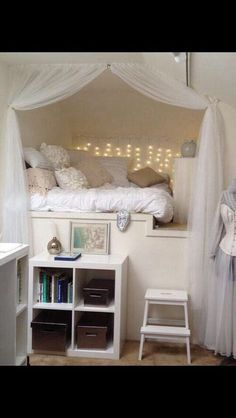 Love this idea it's a bed and reading nook.