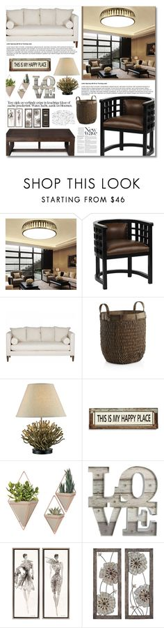 """""""COFFEE LIVING ROOM"""" by iamtaylorswift ❤ liked on Polyvore featuring interior, interiors, interior design, home, home decor, interior decorating, Anja, Crate and Barrel, Poncho & Goldstein and WALL"""