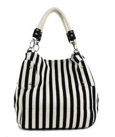 Scarleton Stripe Tote Bag H10800102 - Black/White Scarleton,http://www.amazon.com/dp/B00JJ1IK8A/ref=cm_sw_r_pi_dp_H1Vvtb1ZGVM90ZND