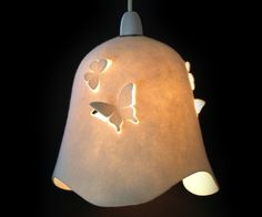 DELIGHT BELLE Wool Felt Butterfly  cream  LAMPSHADE by MIXKO, $65.00