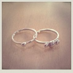 Sterling silver stacking rings: By Sarah Stratton