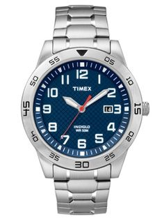 Shop Men's Timex Silver Blue size OS Watches at a discounted price at Poshmark. Description: ❗️FINAL PRICE❗️Timex Men's Expansion Band Watch Silver Analog with Blue Faceplate ❌NO TRADES❌. Gents Watches, Sport Watches, Cool Watches, Watches For Men, Timex Watches, Best Watch Brands, Online Watch Store, Stainless Steel Watch, Stylish Men