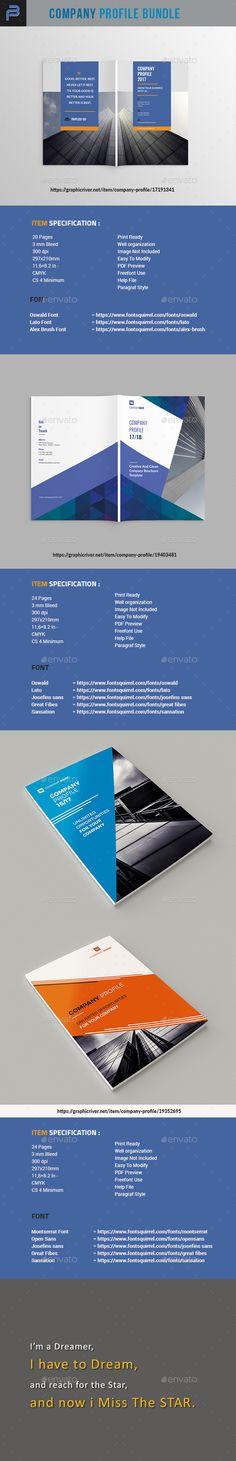 Company Profile Brochure Template InDesign INDD Bundle Travel Brochure Template, Design Brochure, Corporate Brochure, Company Profile Template, Identity, Envelope Design, Brush Font, Beauty Logo, Social Media Template