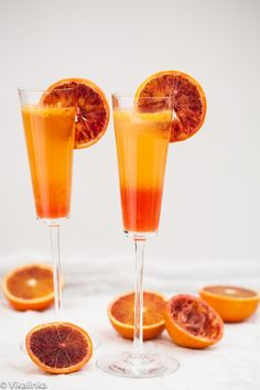 Blood Orange Sparkler (French 75)