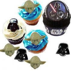 Cupcake Favor Rings & Cups - Star Wars - Darth Vader and Yoda (24)