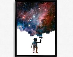 Space Art, Galaxy picture, Galaxy print, Wall art, Galaxy art, Living room wall art, Office art