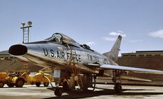 North American F-100 Super Sabre at Hill AFB in 1962.