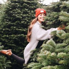 """Kristin Johns on : """"the mojment we found our perfect Christmas tree. not toooooo tall (but tall enough), very fluffy branches & some little brown patches that…"""""""