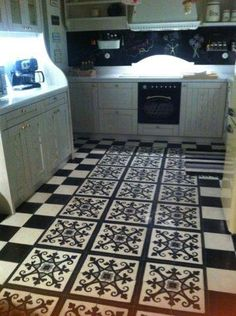 Unique cement tiles, handmade for special places and exquisite taste Cement Tiles, Handmade Tiles, Kitchen Flooring, Tile Floor, Kitchen Ideas, Sweet Home, Greek, New Homes, Walls