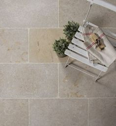 Classic Dijon Limestone in a tumbled finish. Classic limestone floor and wall tiles. Balcony Tiles, Balcony Flooring, Patio Tiles, Outdoor Tiles Floor, Limestone Patio, Kid Friendly Backyard, Exterior Tiles, Three Season Room, Diy Projects For Beginners