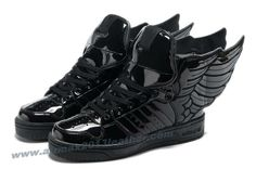 Adidas X Jeremy Scott Wings 2.0 Shoes All Black 2013