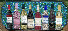 Mosaico de botellas de vino por MosaicMoonStudio en Etsy