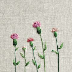 #야생화자수 #조뱅이 #꿈소 #꿈을짓는바느질공작소 #자수 #embroidery #handembroidery #embroideryart #sewing #needlework #stitchart #dmc #wildflowers  #thistle #handmade
