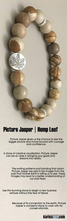 #BEADED #Yoga #BRACELETS ♛ A stone of creative visualization, Picture Jasper can be an aide in bringing your goals and dreams into reality. #hemp #pot #leaf #Eckhart #Tolle #Crystals #Energy #gifts #Handmade #Healing #Kundalini #Law #Attraction #LOA #Lov http://kundaliniyogameditation.com/