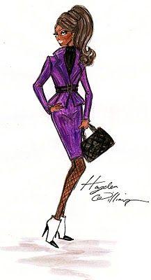 Hayden Williams Fashion Illustrations: Hayden Williams for Barbie BFMC F/W Illustration style inspired by Barbie designer Robert Best