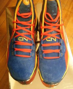 New Mens Under Armour Cam Blue Tropez/Taxi/Red Training Shoes 10