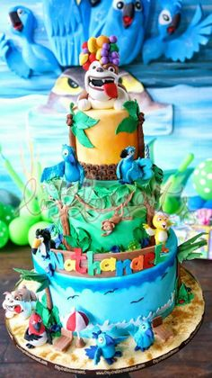 Party Inspirations: Rio 2 Themed Birthday Party By Cupcakes Moments - Usa Hijab Girl Best Share Rio Birthday Cake, Rio Birthday Parties, 5th Birthday Party Ideas, Party Themes For Boys, Girl 2nd Birthday, Birthday Celebration, Birthday Cupcakes, Rio Cake, Rio Party