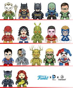 "Funko & Kidrobot team up for DC Comics ""Justice League"" series!?!?"