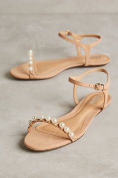 Pearled Darussa Flats by Schutz #anthrofave