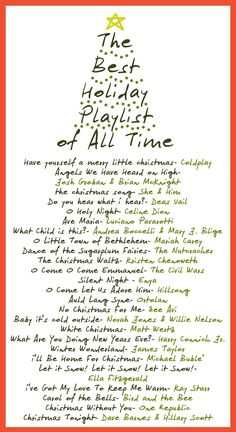 Best Holiday Song Playlist of All Time- must add all I want for christmas is you