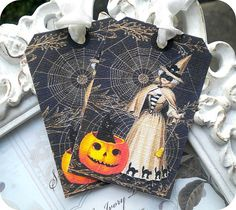 NEW  Vintage Victorian Witch Halloween by LittlePaperFarmhouse, $5.95