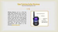The dog training collar offered by alpha dog collars offers you three different modes, viz. tone, vibration or shock, giving you the option to decipher your dog's reaction to each mode and hence making the training process extremely simple.