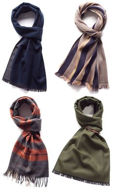 A Man's Guide to the Scarf: How and Why to Wear One, and 7 Ways to Tie Yours  @Sarah Chintomby Blum for scott!