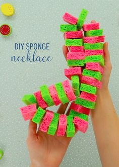 With summer fast approaching, parents are always trying to find ways to keep the kids playing outside without being overheated. This DIY Sponge Necklace is just the trick. You only need a few supplies to make this easy and fun necklace. Your little ones will truly be the coolest kids on the block.