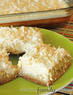 Coconut Lime Cheesecake Bars