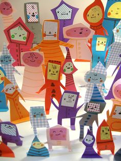 the art room plant: Philippa Rice Projects For Kids, Diy For Kids, Art Projects, Crafts For Kids, Origami, Paper Art, Paper Crafts, Paper People, Paper Toys