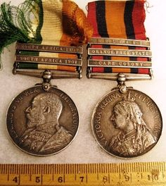 Kings South Africa Queens South Africa, for the Boer War Renaissance Festival Costumes, British Medals, Military Awards, British Army Uniform, War Medals, Service Medals, Coin Art, Antique Coins, African History