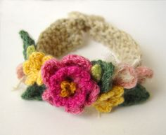 Crochet Pink Spring Flowers Bracelet | Flickr - Photo Sharing!