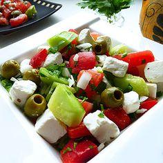 Sałatka grecka Pierogi, Caprese Salad, Feta, Cooking Recipes, Ideas, Chef Recipes, Thoughts, Insalata Caprese