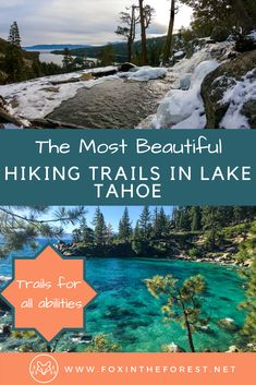 The best hikes in Lake Tahoe for any ability. Excellent hiking in Lake Tahoe. Local's guide to hiking in Lake Tahoe, California and Nevada. - 14 of the Most Beautiful Lake Tahoe Hikes Lake Tahoe Hiking, Lake Tahoe Summer, Lake Tahoe Vacation, Vacation Spots, Colorado Hiking, South Lake Tahoe Hikes, South Tahoe, Vacation Places, Dream Vacations