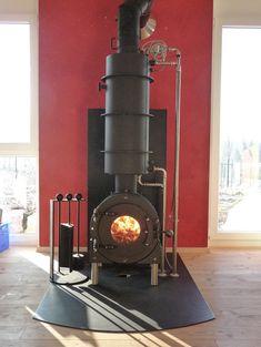 firetube FT31 water Wood Burner Stove, Tiny Wood Stove, Wood Pellet Stoves, Stove Fireplace, Fireplace Design, Wood Stove Water Heater, Foyers, Wood Panneling, Wood Backsplash