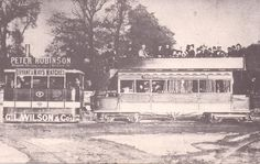 Steam tram on Tottenham High Road Introduction on the Edmonton-Finsbury Park route began in the steam trams were replaced by the first electric trams. Enfield Middlesex, Finsbury Park, High Road, London Pictures, Old London, Prince Of Wales, Britain, Electric, Green