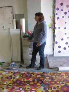 Ani Hoover in her studio: 701 Seneca Street on the 7th floor in the Old Larkin Industrial Center, Buffalo, NY, October 2008