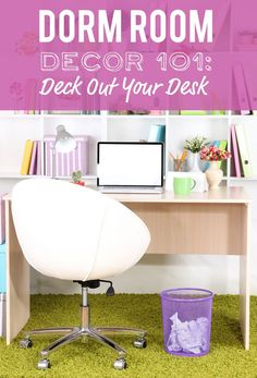 In college, a desk is so much more than just a desk. We've rounded up the best college school supplies and DIY dorm room decor ideas for your desk. College Girl Apartment, College Dorm Desk, College School Supplies, College Fun, College Board, College Tips, College Students, Vinyl Record Storage, Tv Storage
