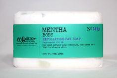 Set of 4 Bigelow Aphotecaries Mentha (Peppermint) Exfoliating Bar Soap $30 Value