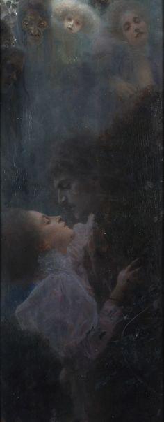 La Fiancée de la Nuit   lun-ea: Allegory of Love, Gustav Klimt