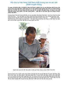 Hội chợ tự hào hàng Việt Nam chất lượng cao và các sản phẩm truyền thống by Dược Phẩm Tâm Bình   http://tambinh.vn/hoi-cho-tu-hao-hang-viet-nam-chat-luong-cao-va-cac-san-pham-truyen-thong_916.html