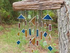 Stained glass wind chimes on pinterest wind chimes for How to make stained glass in driftwood
