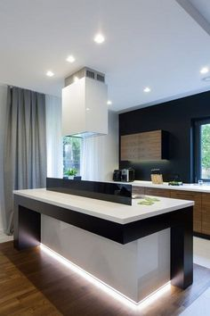 Amazing Modern and Contemporary Kitchen Cabinets Design Ideas - Page 3 of 70 Contemporary Kitchen Cabinets, New Kitchen Cabinets, Kitchen Cabinet Design, Kitchen Storage, Kitchen Decor, Updated Kitchen, Beautiful Kitchens, Kitchen Remodel, Storage Ideas