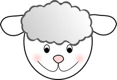 Lamb Print Out | Smiling Good Sheep clip art - vector clip art online, royalty free ...