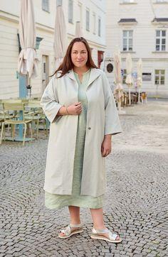 Plus Size Kleidung, Duster Coat, Shirt Dress, Jackets, Shirts, Dresses, Style, Fashion, Contrast Color