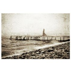 conceptual photography, alone, Vintage view , old photo, Vintage background, woman on the beach, sepia, Monochromatic, sea, 8'' x12'' inch on Etsy, 22,39€